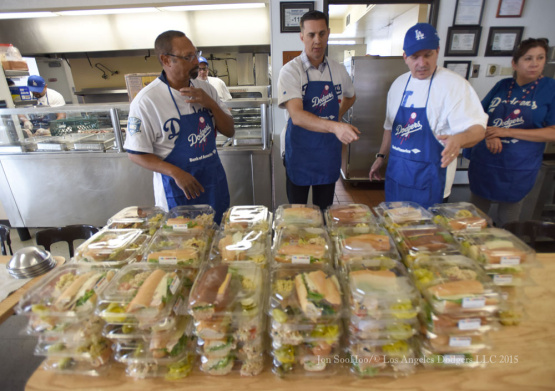 Los Angeles Dodgers Caravan at Long Beach Rescue Mission
