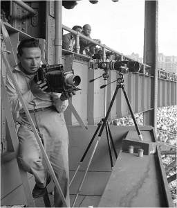 Hy Peskin at Yankee Stadium